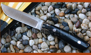 Нож туристический Bob Doizier KS-7 Wilderness Black G10 Black/Tan Bolsters