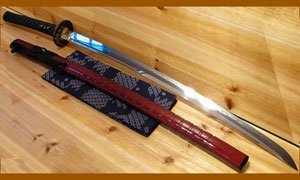 Японский меч HW Sword UNOKUBI TIGER Shinken T10 Folded Katana